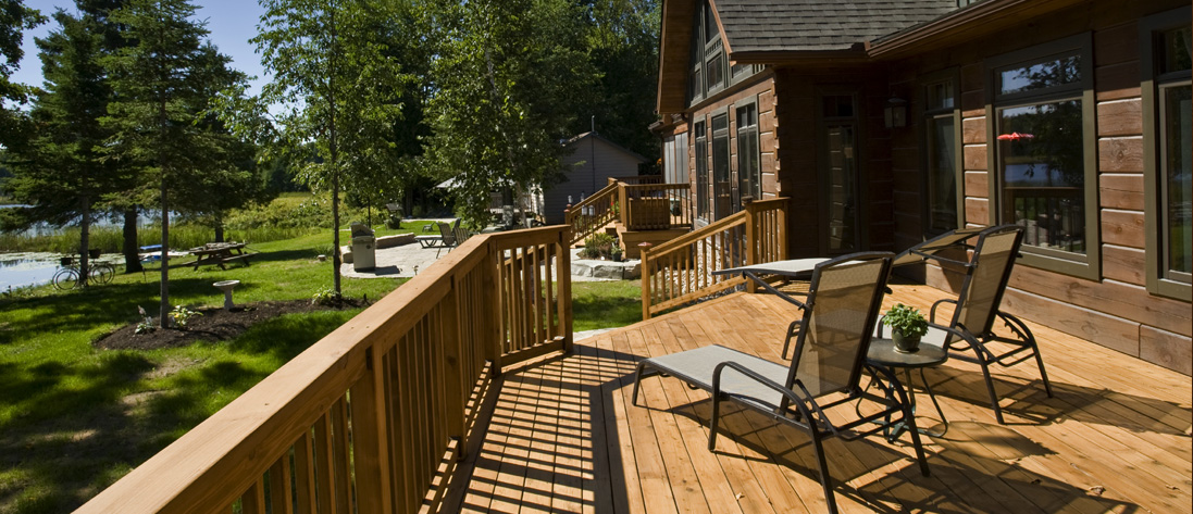 discover the affordability of a natural wood deck »