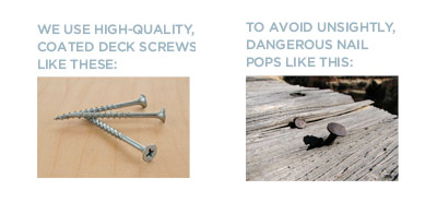 deck screws vs nails